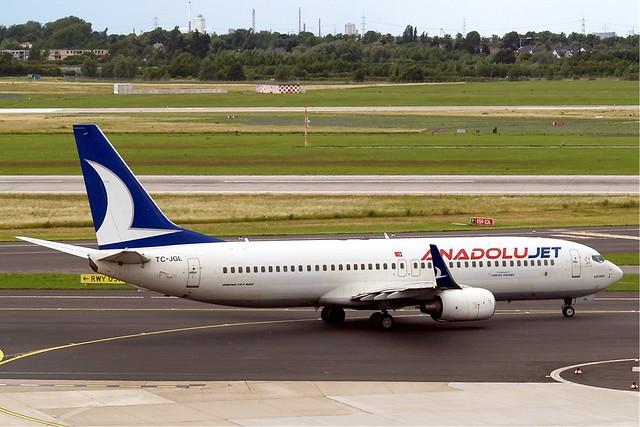TC-JGL   Boeing 737-8F2 [34410] (Anadolu Jet) Dusseldorf Int'l ~D 18/06/2011