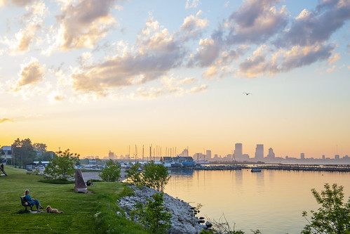 Milwaukee Skyline from South Shore Park