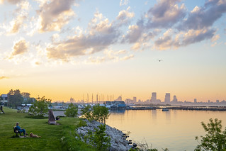 Milwaukee Skyline from South Shore Park | by Vincent Buckley