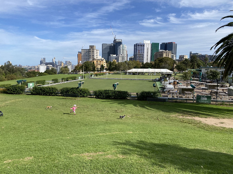 North Sydney Bowls Club and vew