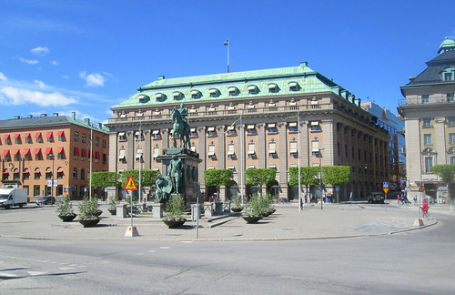 Building and Statue Near Riksdag, Stockholm