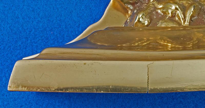 RD26171 Mid Century Set of 2 Vintage Brass Eagle Bookends DSC07178