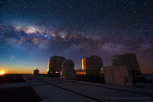 Moon and Milky Way Setting