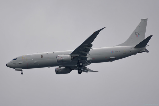 ZP802 RAF Boeing P-8 Poseidon EGNS 03/06/20