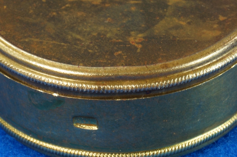 RD28267 Antique 1895 American Waltham Brass Pocket Watch Mailing Container DSC07242