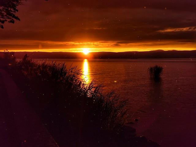 RAINY SUNSET AT LAKE BALATON