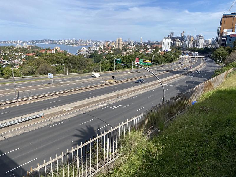 Warringah Freeway from Ridge Street lookout