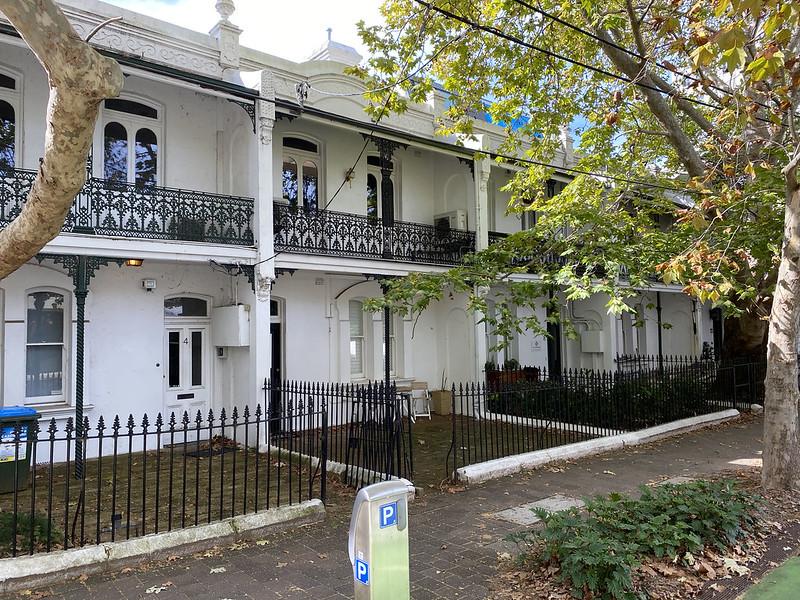Historic terraces on Ridge Street