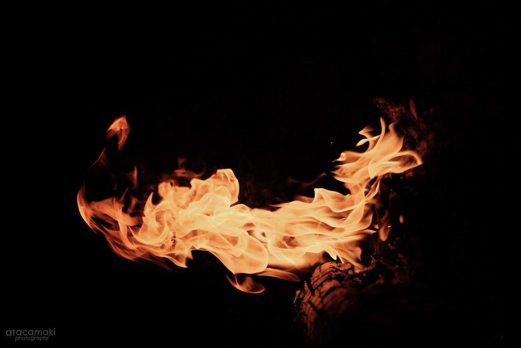 ただ 火 のための焚き火
