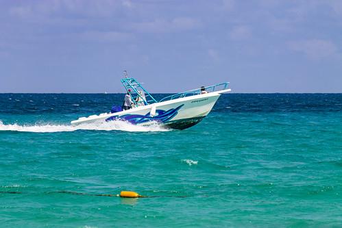 Fishing boat, Capricormo, Valentin Imperial Riviera Maya, Mexico