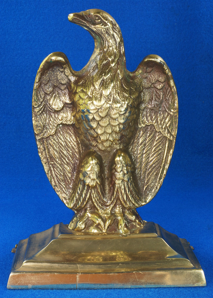 RD26171 Mid Century Set of 2 Vintage Brass Eagle Bookends DSC07177