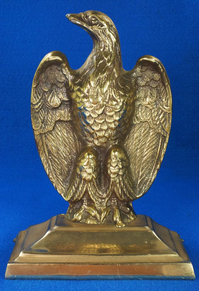 RD26171 Mid Century Set of 2 Vintage Brass Eagle Bookends DSC07176