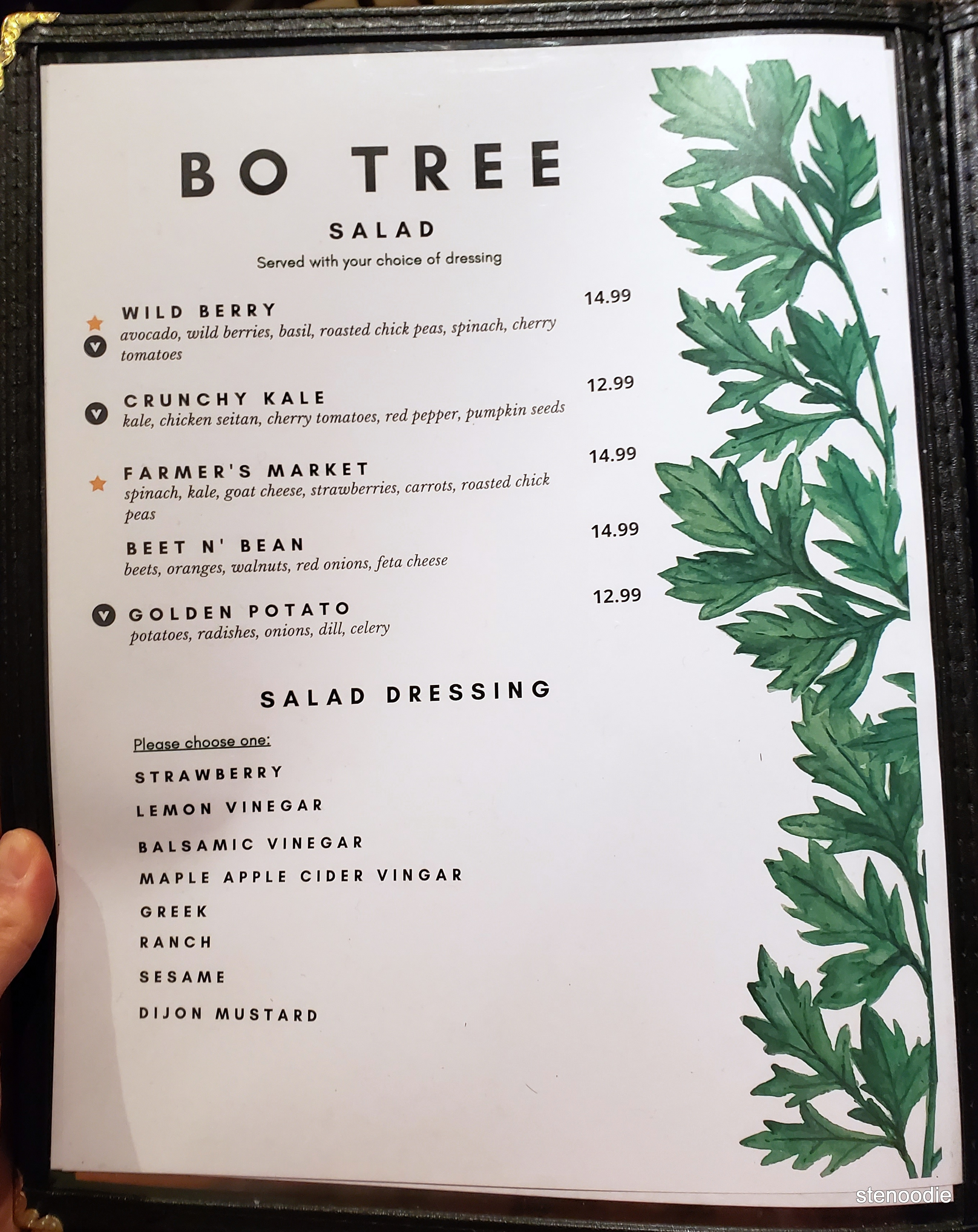 Bo Tree Plant-Based Cuisine menu and prices