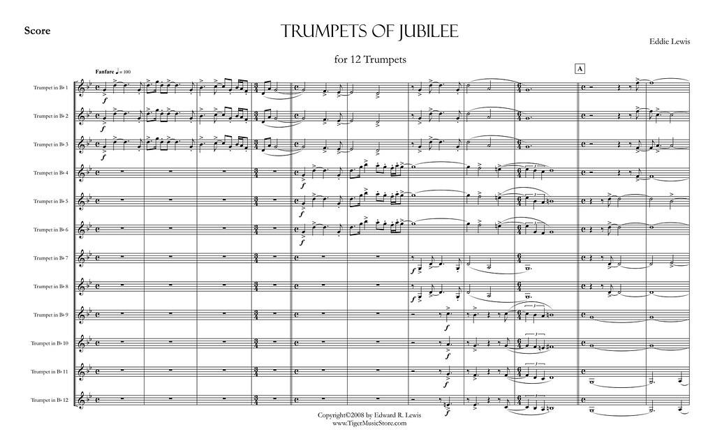 Trumpets Of Jubilee Score Video