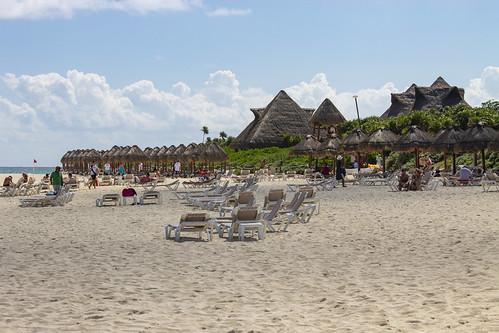 Beach area, Valentin Imperial Riviera Maya, Mexico