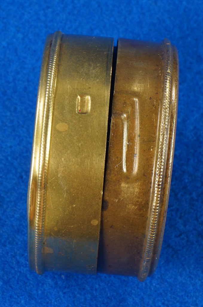 RD28267 Antique 1895 American Waltham Brass Pocket Watch Mailing Container DSC07245