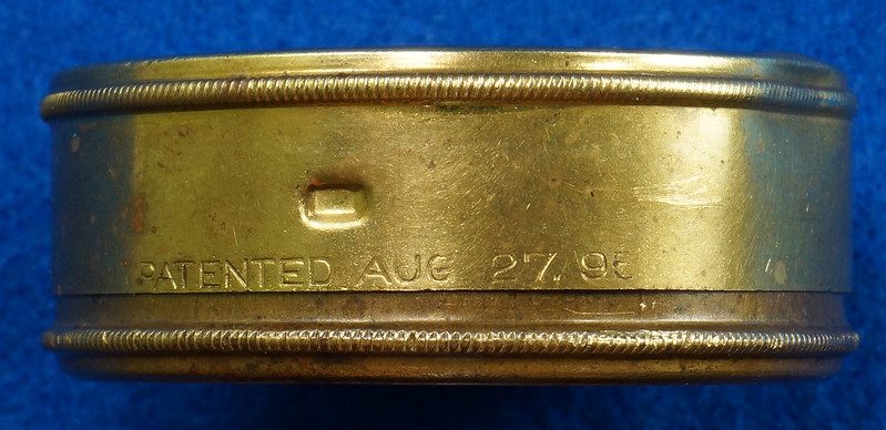 RD28267 Antique 1895 American Waltham Brass Pocket Watch Mailing Container DSC07239