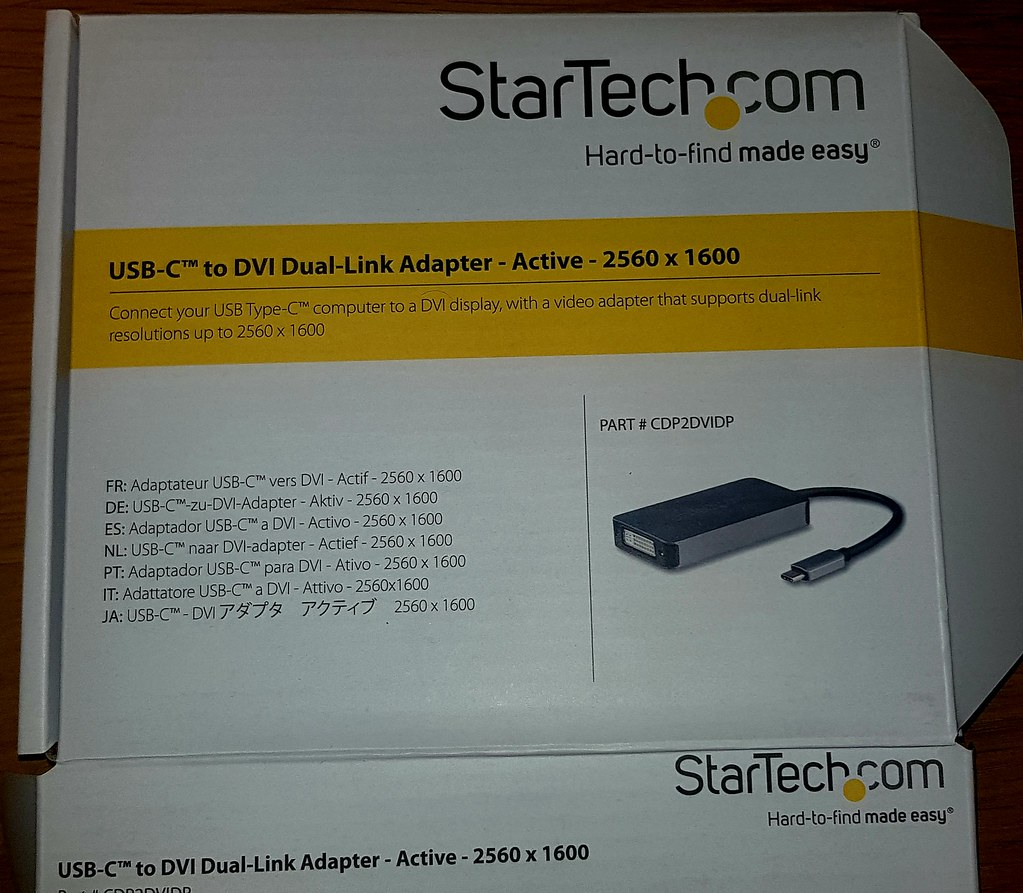 Started usb-c to DVI Dual link adapter - Active 2560x1600 for 30 inch Apple Cinema display