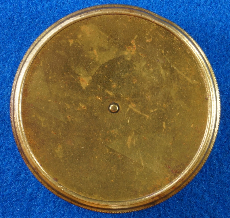 RD28267 Antique 1895 American Waltham Brass Pocket Watch Mailing Container DSC07237