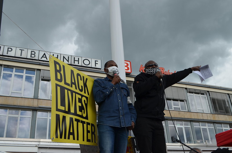 Black Lives Matter Kundgebung in Kassel am 06.Juni 2020