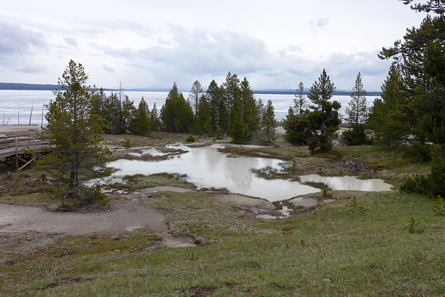 Thumb Paint Pots at West Thumb Geyser Basin Trail in Yellowstone NP, WY