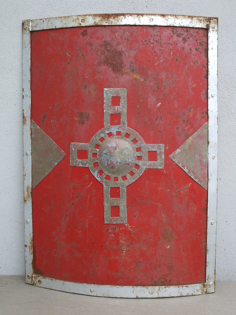 Replica Steel Medieval War Fighting Shield Film Prop ? Car Boot Sale Find
