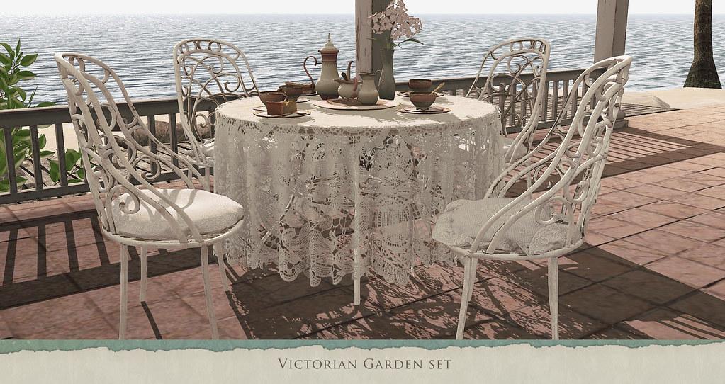 Victorian garden set