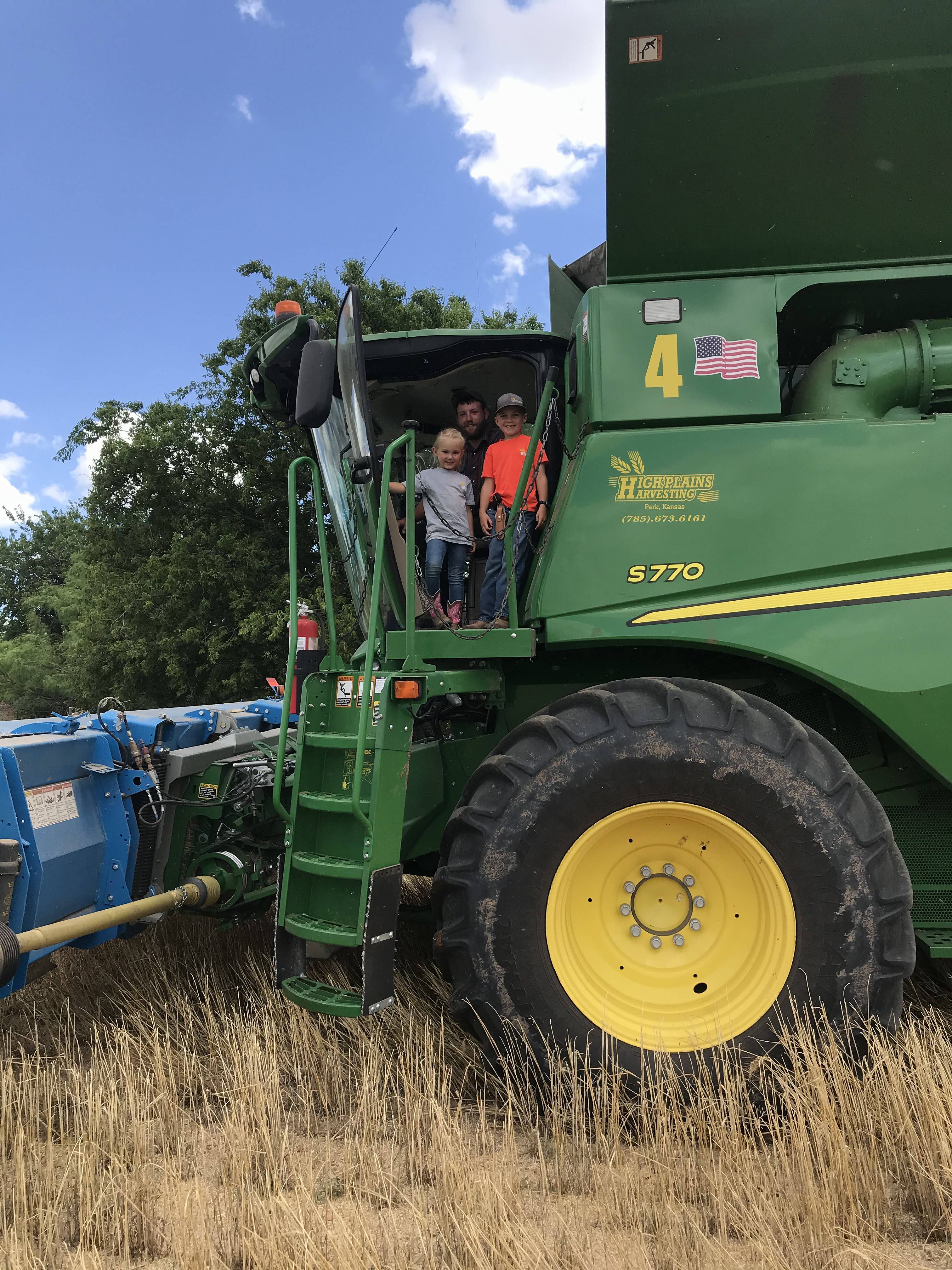 First ride of the season. High Plains Harvesting 2020. Photo Credit: Laura Haffner