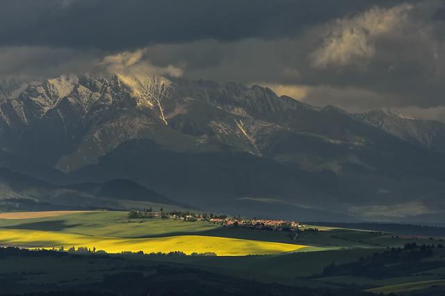 sunset of Liptov region