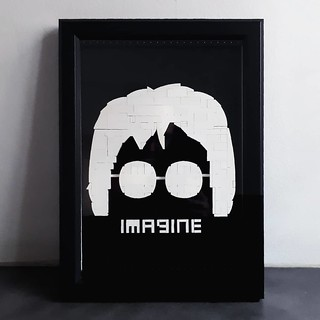 You may say I'm a dreamer, but I'm not the only one. John Lennon imagined a world where we could all live as equals, regardless of race, language or religion. Will we be able to make it happen? #imagine #johnlennon #beatles #portrait #artisanbricks #lego | by www.artisanbricks.com