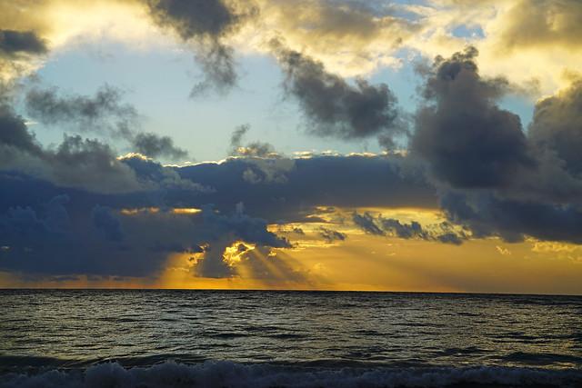 Stunning light over the Ocean, Frigate Bay, St Kitts