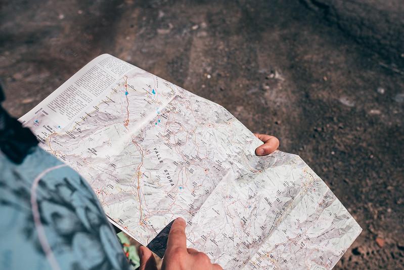 mappa Monte Servagno