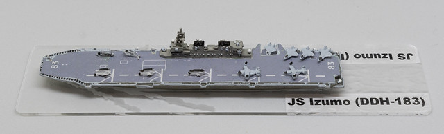 GHQ JMSDF Izumo Helicopter Destroyer 1/2400 miniature - based