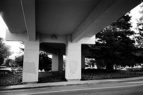 olympusxa neopan400 fujifilm california mountainview overpass road street ramp concrete acros
