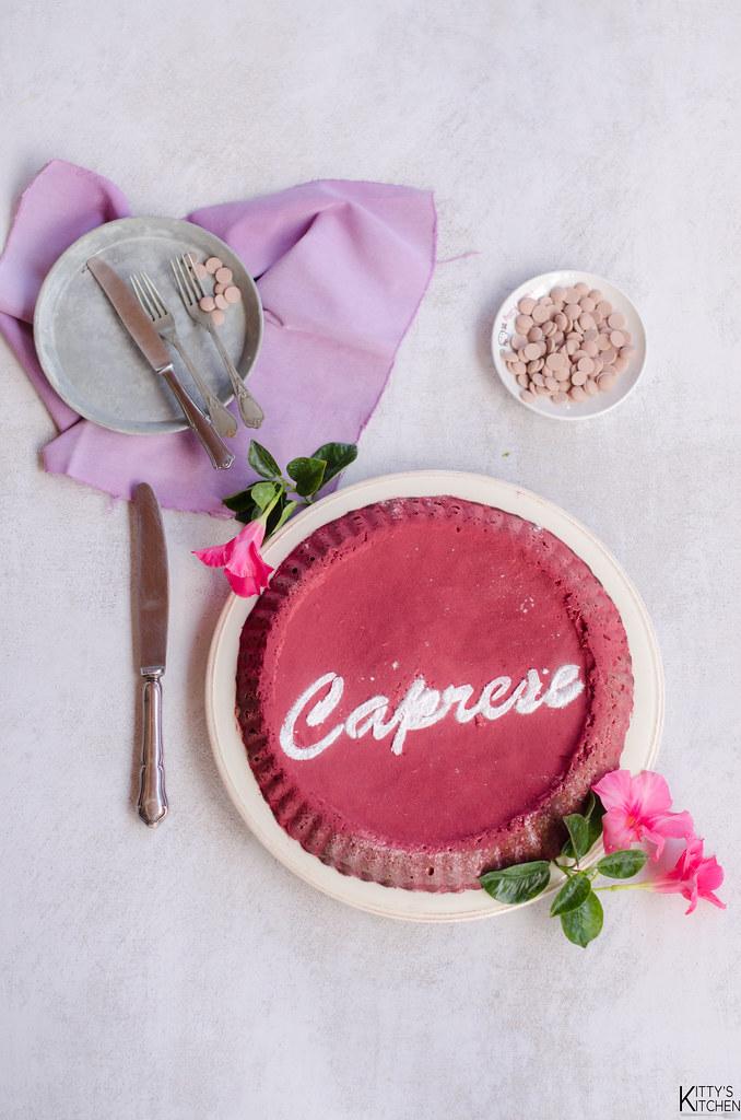 Torta caprese al cioccolato ruby