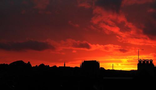 sunset lancingcollegechapel