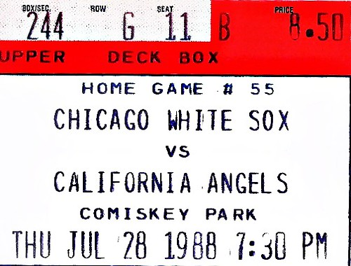 California Angels vs. Chicago White Sox July 28th 1988
