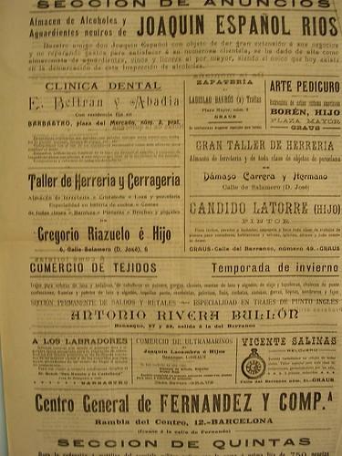 una página publicitaria de octubre de 1918