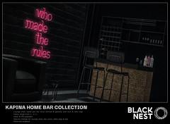 BLACK NEST / Kapina Home Bar Collection / Collabor88
