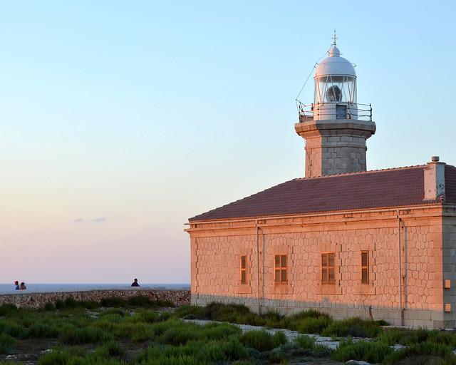 Faro de Punta Nati, en Menorca