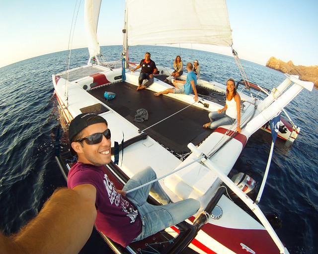 Catamarán por Menorca