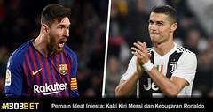 Ronaldo Dan Messi Pemain Ideal Dalam Kriteria Andres Iniesta