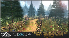 *NEW* 34 Piece Rustic Wood Fence Set (SUMMER EDITION)