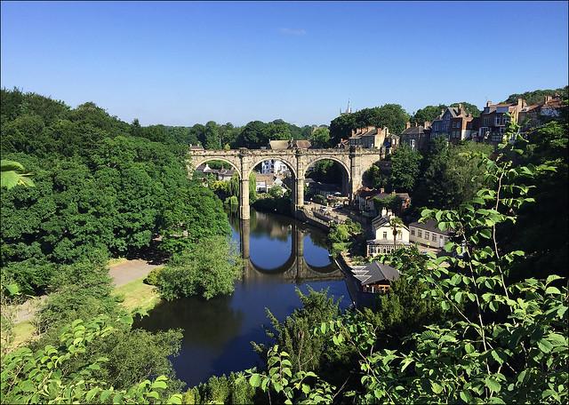 Knaresborough Viaduct and River Nidd