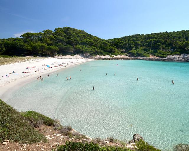 Enseada de Trebaluger em Menorca