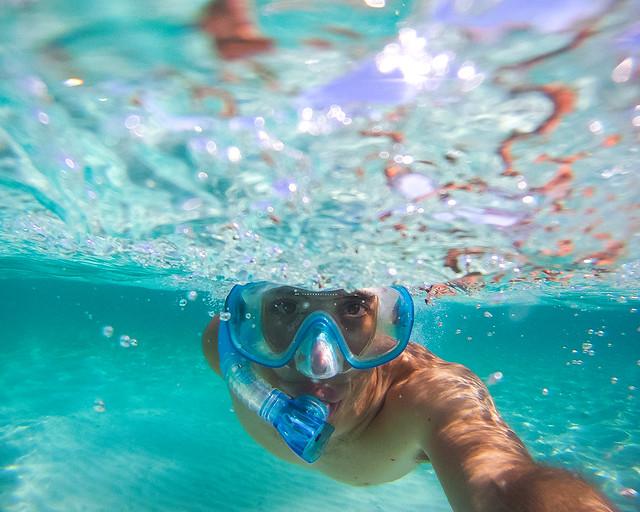 Snorkel em Cala Fustam