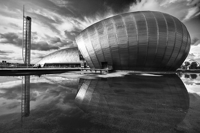 Glasgow Science Centre, Imax Theatre and Glasgow Tower, Scotland