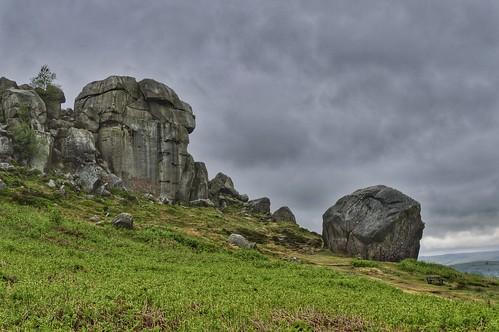 Cow and Calf rocks. Ilkley moor.