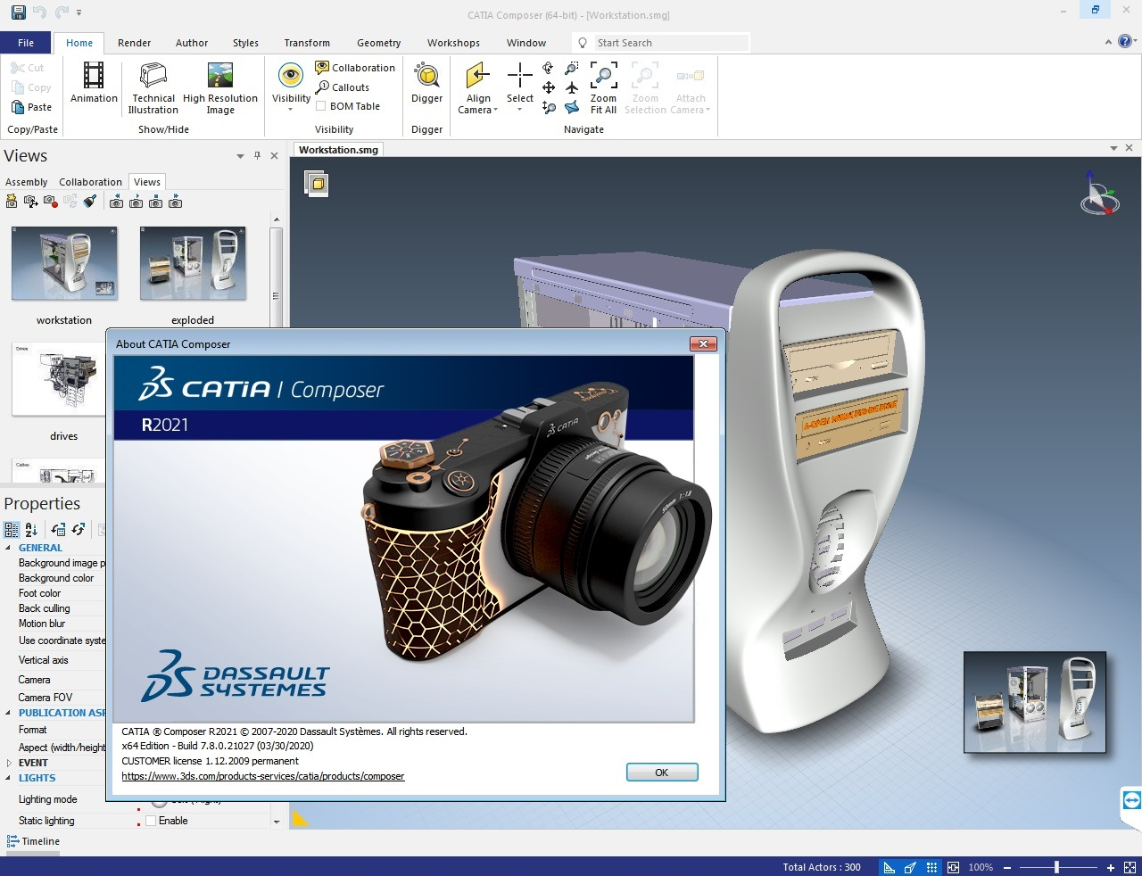 Working with DS CATIA Composer R2021 full license