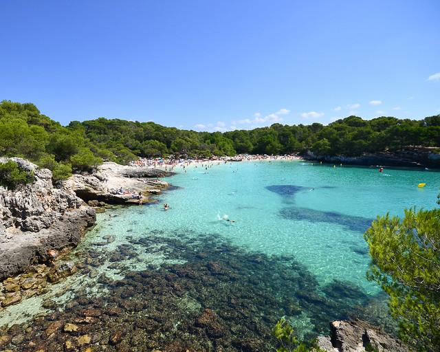 Cala Turqueta, uma das enseadas mais famosas de Menorca